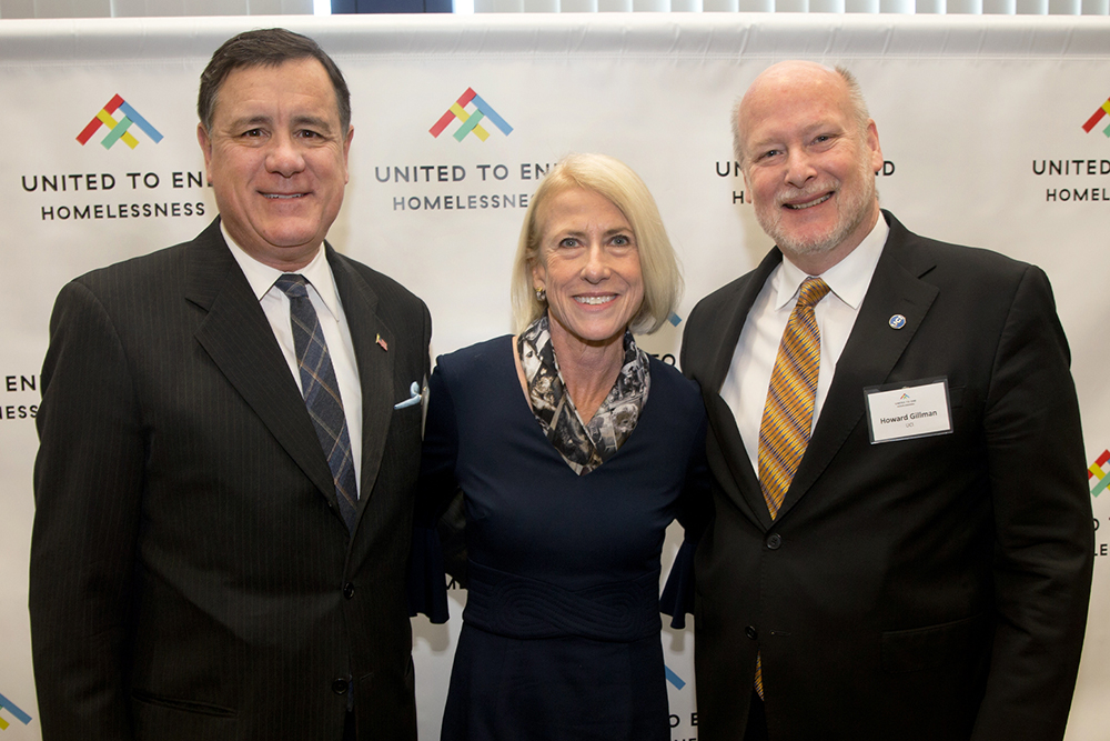 Chancellor Gillman with Orange County United Way leaders.
