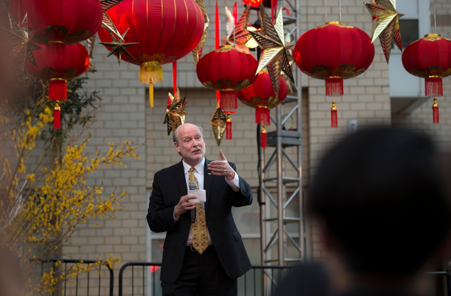 Chancellor Gillman Welcomes Guests to Lunar New Year Celebration