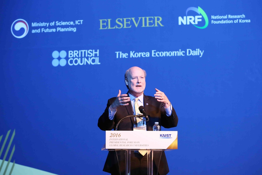 Chancellor Gillman Discusses Global Partnerships in Higher Education at KAIST Forum