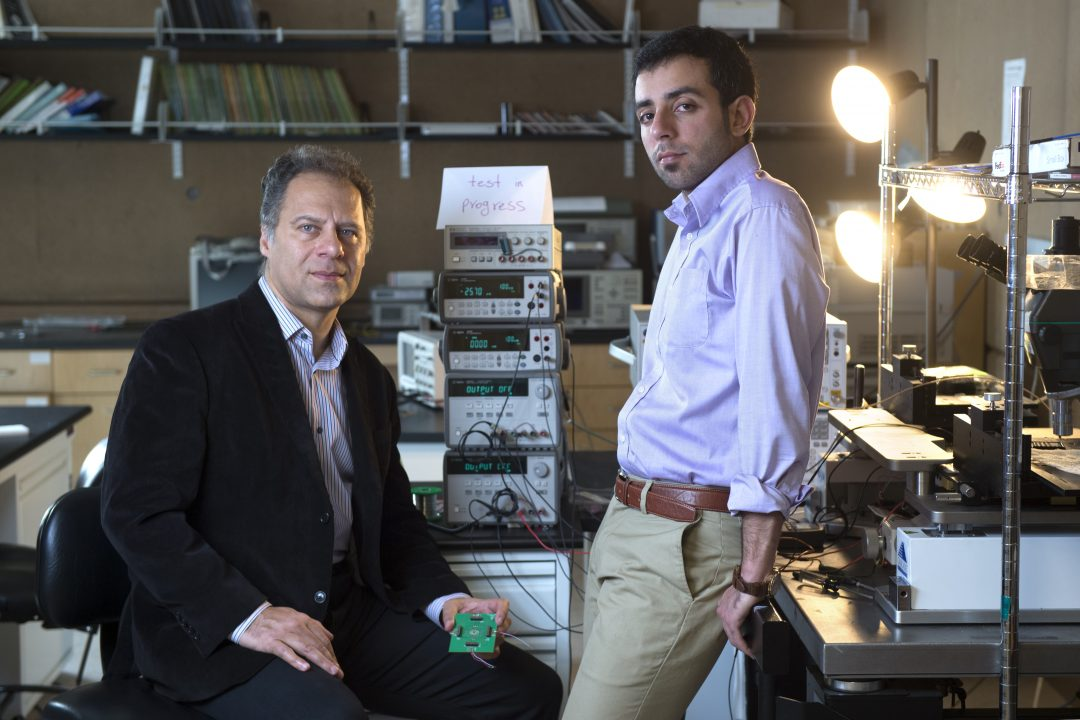 Payam Heydari (left) and grad student researcher Peyman Nazari