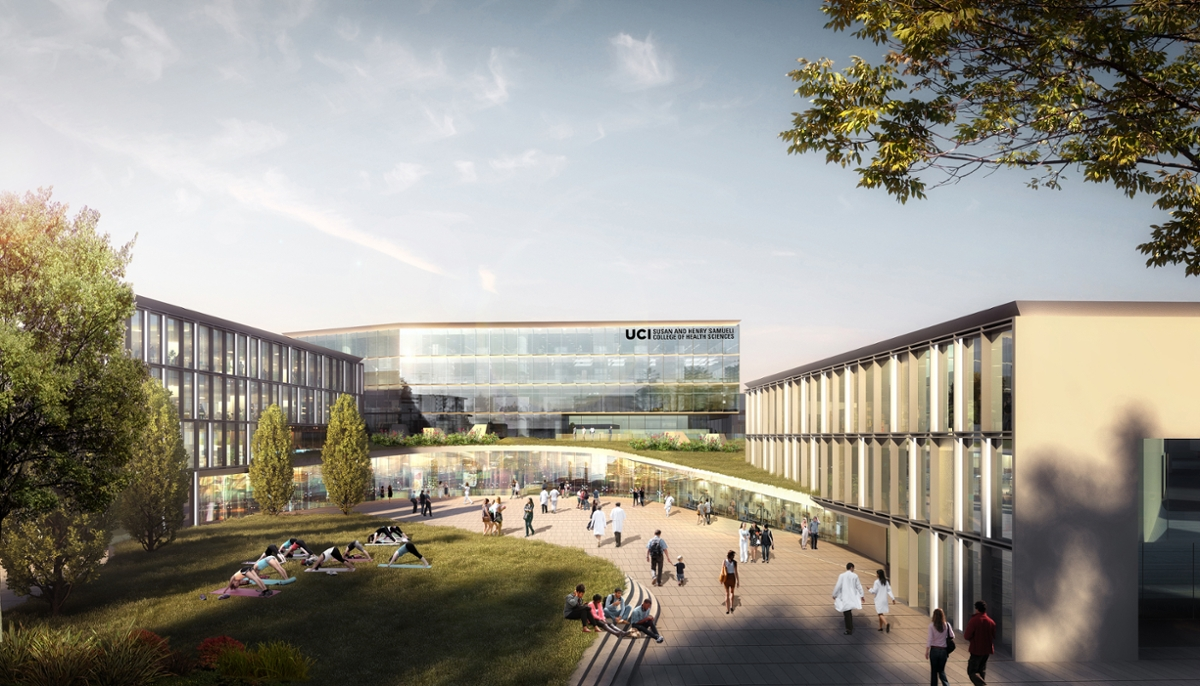 rendering of Susan and Henry Samueli College of Health Sciences