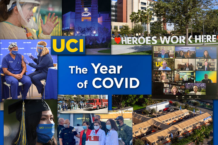 Collage featuring UCI and UCI Health